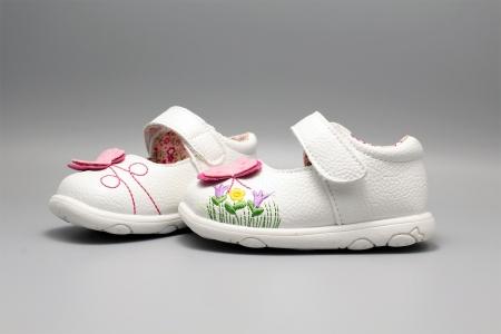 Pantofi alb ivoire cu bareta Happy Bee 19-24EU fluturas4