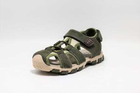 Sandale baieti Army Camuflaj DGN piele si material textil, HappyBee, marimi 31-36 EU