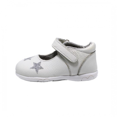 Pantofi fete albi din piele, Happy Bee ShineyStar, marimi 19-24 EU0