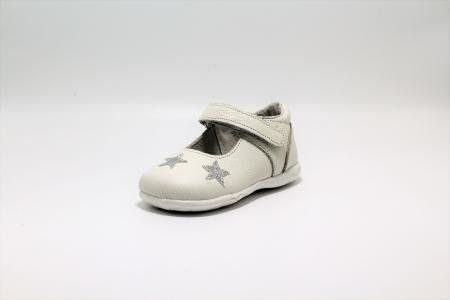 Pantofi fete albi din piele, Happy Bee ShineyStar, marimi 19-24 EU2