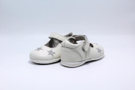 Pantofi fete albi din piele, Happy Bee ShineyStar, marimi 19-24 EU5