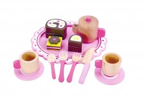 Set de ceai din lemn