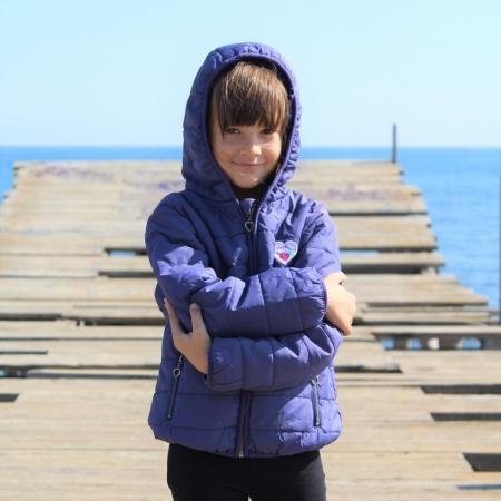 Jacheta fete Little Marcel, model Preppy Rock, 3-14 ani, culoare Bleu Nuit4