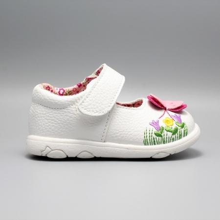Pantofi alb ivoire cu bareta Happy Bee 19-24EU fluturas0