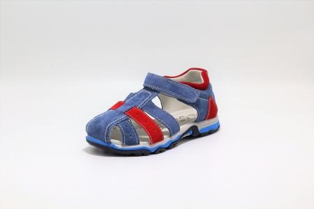 Sandale baieti din piele, HappyBee Denim Blue/Red, marimi 26-31 EU2