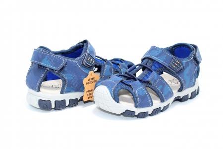 Sandale baieti HappyBee, piele si material textil, Army Camuflaj Navy, marimi 25-30 EU5