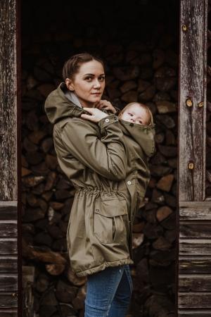 Geaca Babywearing Lenny Lamb- Khaki & Choice- marime XS3