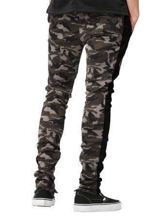 Pantaloni Bărbătești LAZO CAMOUFLAGE TRACK PANTS,Black2