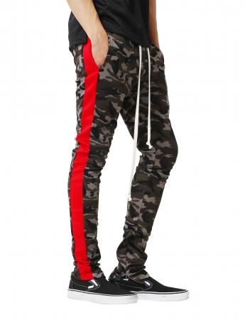 Pantaloni Bărbătești LAZO CAMOUFLAGE TRACK PANTS, Red