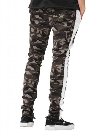 Pantaloni Bărbătești LAZO CAMOUFLAGE TRACK PANTS, White