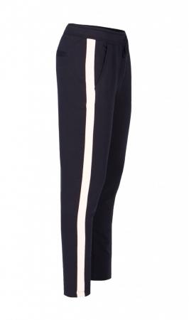 Pantaloni Damă LAZO LINE, Negru cu Roz pal