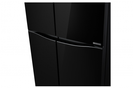 Side by Side LG Door in Door GSM860BMAV, 618 l, Sticla Neagra