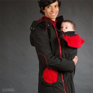 Geacă pentru mămici Liliputi® - Black-red