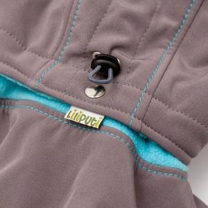 Glugă și fular de încălzire a gâtului pentru bebeluși Liliputi® - Grey-turquoise