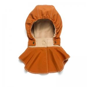 Glugă și fular de încălzire a gâtului pentru bebeluși Liliputi® - Rusty-beige