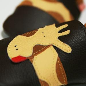 Pantofi cu talpă moale Liliputi® - Brown Giraffe