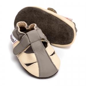 Sandale cu talpă moale Liliputi® - Greyhound