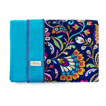 Wrap elastic Liliputi® Rainbow line - Peacock Bloom
