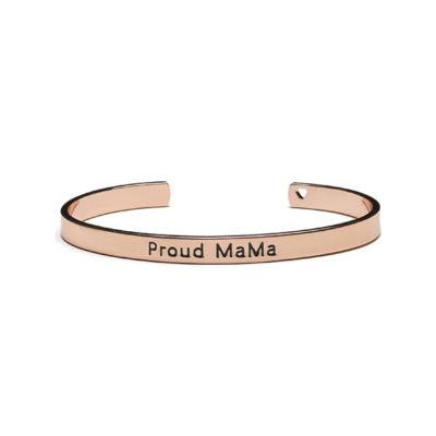 Bratara fixa tip Bangle rose goldgravata Proud MaMa