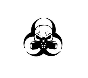 Sticker Auto - Toxic Skull