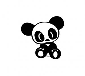 Sticker Auto - Panda 2