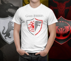Tricou Game of Thrones -  Targaryen and Stark house