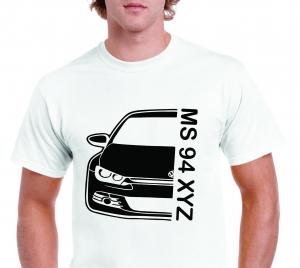 Tricou Personalizat Auto - VW Scirocco GT cu nume sau numar1