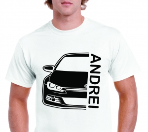 Tricou Personalizat Auto - VW Scirocco GT cu nume sau numar3