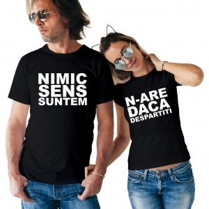 Tricouri Cuplu Personalizate - Nimic N-are Sens0
