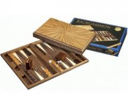 Set joc table / backgammon - lemn de arbore de cauciuc - 49x60 cm1