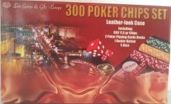 Set poker cu 300 chips-uri si servieta din piele ecologica1
