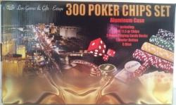 Set poker cu 300 chips-uri si servieta din aluminiu1