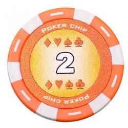 Jeton Poker Chip 11.5g - Culoare Portocaliu - inscriptionat (2)1
