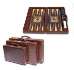Joc table/backgammon - Star Leather - Mare - 48x60 cm1