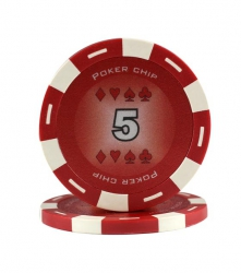 Jeton Poker Chip 11.5g - Culoare Rosu - inscriptionat (5)0