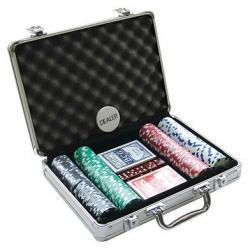 Set poker cu 200 chips-uri model DICE si servieta din aluminiu0