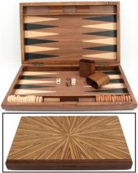 Set joc table / backgammon - lemn de arbore de cauciuc - 49x60 cm3