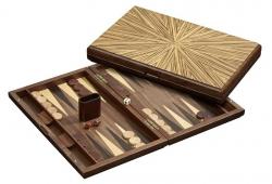 Set joc table / backgammon - lemn de arbore de cauciuc - 49x60 cm2