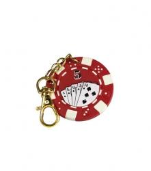 Breloc jeton poker - rosu 5