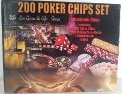 Set poker cu 200 chips-uri model DICE si servieta din aluminiu1