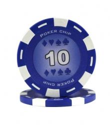 Jeton Poker Chip 11.5g - Culoare Albastru - inscriptionat (10)0
