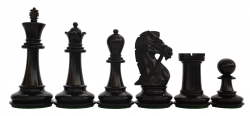 Piese sah din lemn Staunton 7 - Suprem, EQ, Black