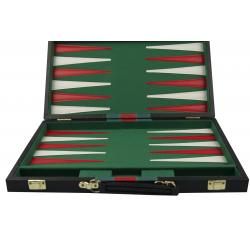 Set joc table/backgammon piele ecologica - 38 x 48 cm1