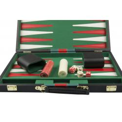 Set joc table/backgammon piele ecologica - 38 x 48 cm0