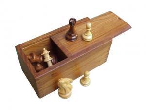 Cutie piese sah din lemn sheesham - glisanta