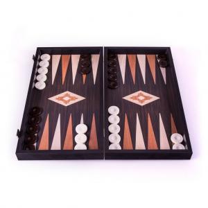 Set joc table/backgammon - aspect lemn wenge - 47,5cm2