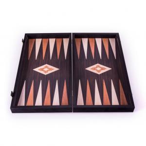 Set joc table/backgammon - aspect lemn wenge - 47,5cm3
