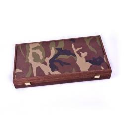 Set joc table/backgammon in stil militar-48x50 cm1
