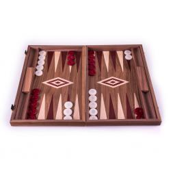 Set joc table/backgammon - Inlaid Nuc - 48 x 60 cm0