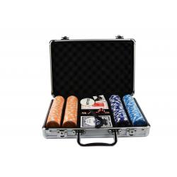 Set poker cu 200 chips-uri ABS 11,5 gr model DICE si servieta din aluminiu1